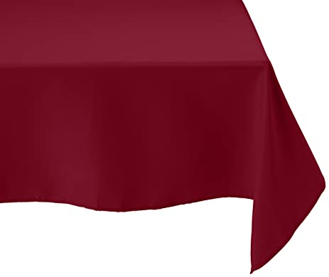 LinenTablecloth 70 Inch Square Polyester Tablecloth Burgundy