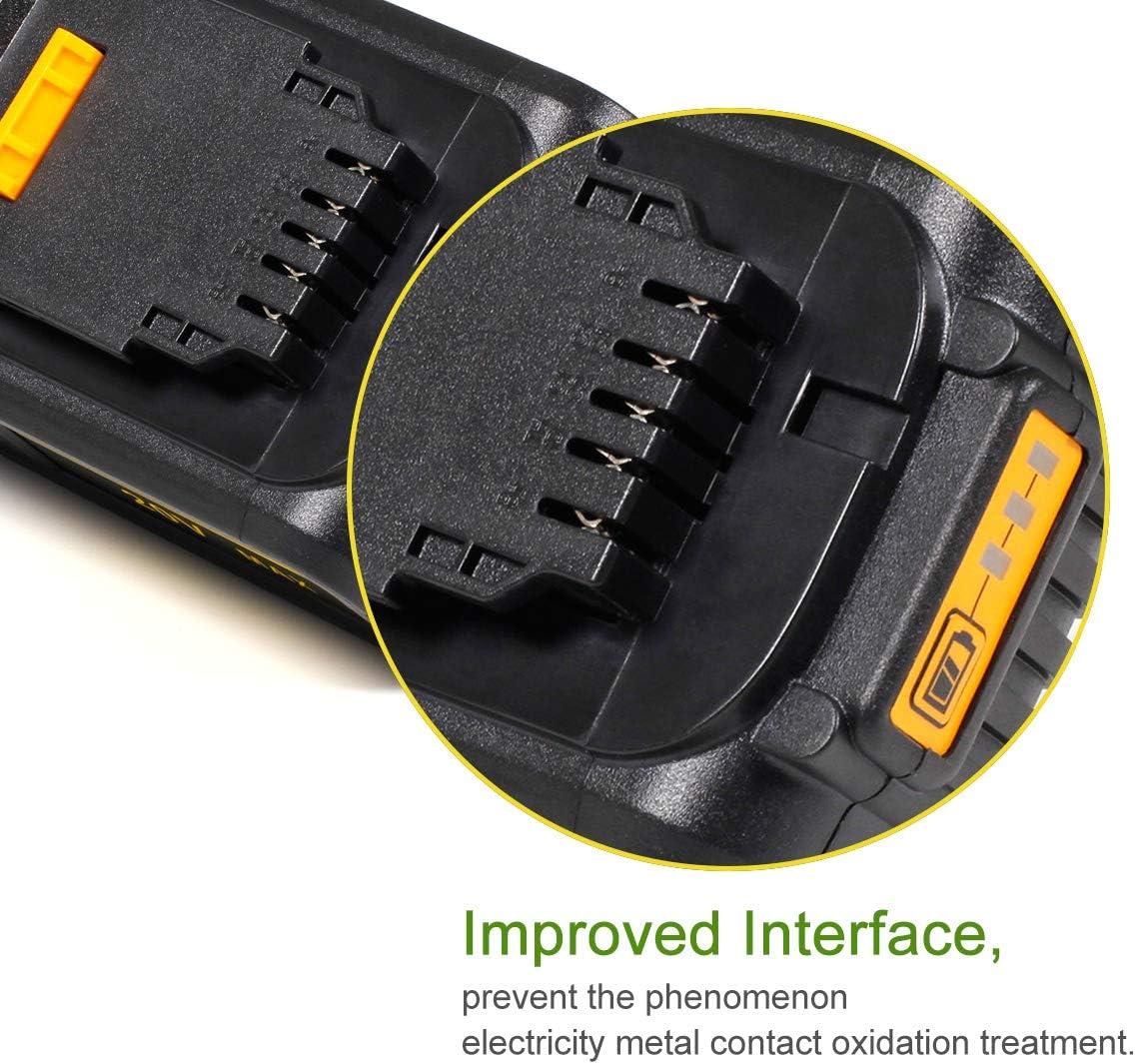 SISGAD 20V 5000 mAh LI-ION Batterie de remplacement pour DeWalt DCB180 DCB181 DCB182 DCB182-XJ DCB183 DCB183-XJ DCB184 DCB200 DCB200-2 DCB201 DCB201-2 DCB204-2 DCB205-2 Outils /électriques