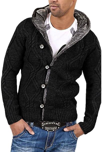 Amazon.com: Behype chamarra chaqueta de punto Sweater para ...
