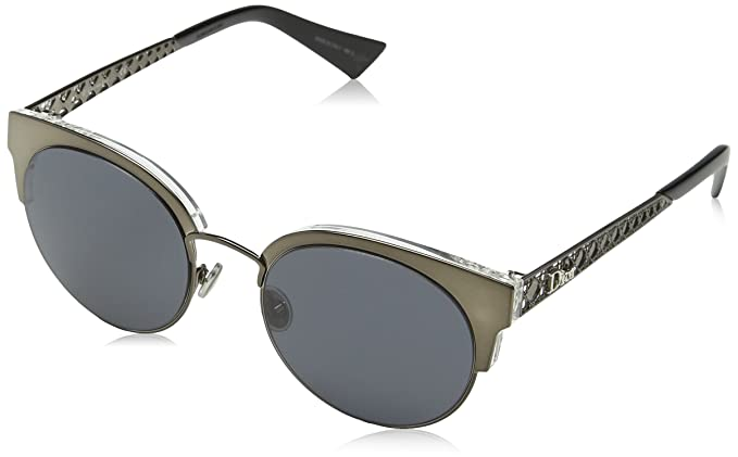 Dior DIORAMAMINI IR 807 Gafas de Sol, Negro (Black/Grey Blue), 50 para Mujer
