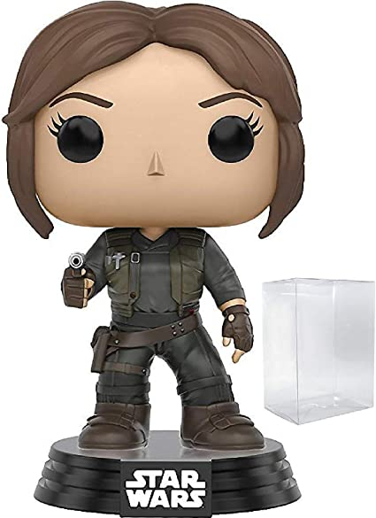 Funko Pop Includes Pop Box Protector Case Star Wars: Rogue One Jyn Erso Vinyl Bobble-Head Figure