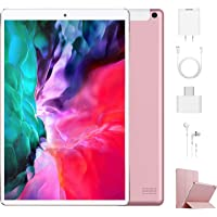 Tablet 10.1 Pulgadas 4G Android 9.0 Quad Core DUODUOGO P8 Tablet 4GB RAM 64GB ROM/128GB Escalables 8000mAh Doble SIM Doble Cámara Tablet PC Netfilx WiFi GPS OTG Bluetooth (Estándar, Rosado)