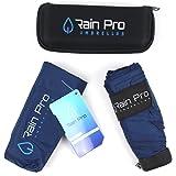 RAIN PRO COMPACT GLOVE BOX MICRO UMBRELLA AND ZIP CASE, COLORS