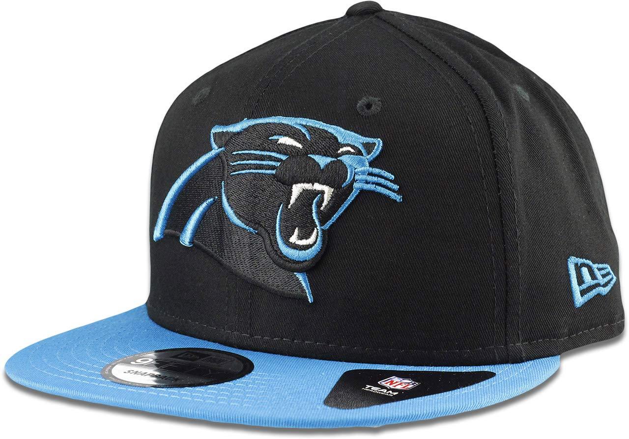 New Era Carolina Panthers Hat NFL Black Panther Blue 2Tone 9FIFTY Snapback Adjustable Cap Adult One Size