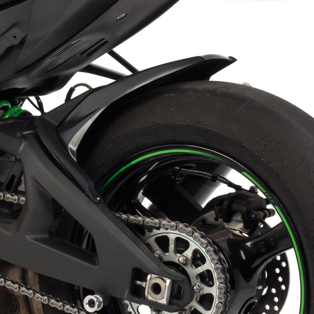 Hotbodies Racing 51101-1206 KAW ZX10R 2016 Metallic Matte Carbon Gray ABS Rear Tire Hugger 2
