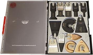30 x TopsTools SW/_FAK30 Mix Juego de cuchillas caja de r/ápido ajuste para Dewalt Stanley Black and Decker Bosch Fein No-StarLock Makita Milwaukee Parkside Ryobi Worx Multi herramienta accesorios