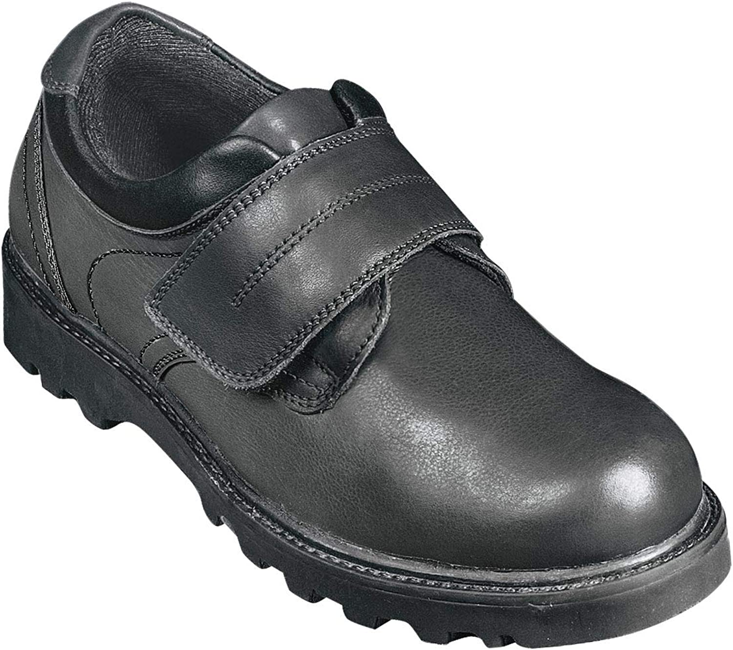 Chums Mens Real Leather Touch Fastening Walking Shoe Black 6 UK