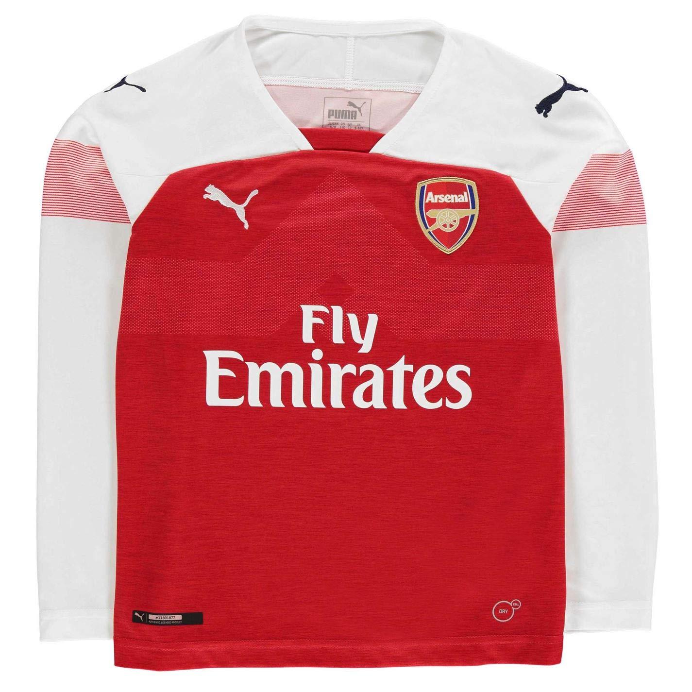 Amazon.com   PUMA 2018-2019 Arsenal Home Long Sleeve Football Soccer  T-Shirt Jersey (Kids)   Sports   Outdoors 1a492733d9