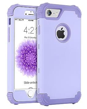 BENTOBEN Funda iPhone 6 Silicona, Funda iPhone 6s, 3 en 1 Carcasa Combinada PC Dura y TPU Silicona Fuerte Resistente PC Bumper Antigolpes Cubierta ...
