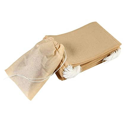 AOLVO desechables Cordón vacías Papel bolsas de té para ...