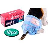 Pet Soft Fashion Cotton Demin Jeans Pet Disposable Diaper Cowboy Style Puppy Dog Diaper,10-108 Pcs,XS--XL