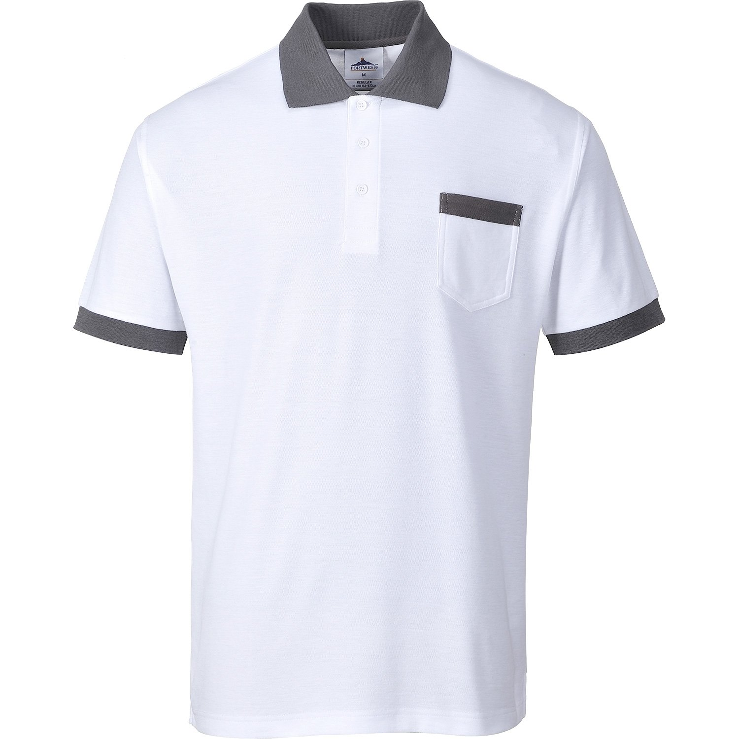 Portwest KS51 - Camisa del arte de Polo, color Blanco, talla Small ...