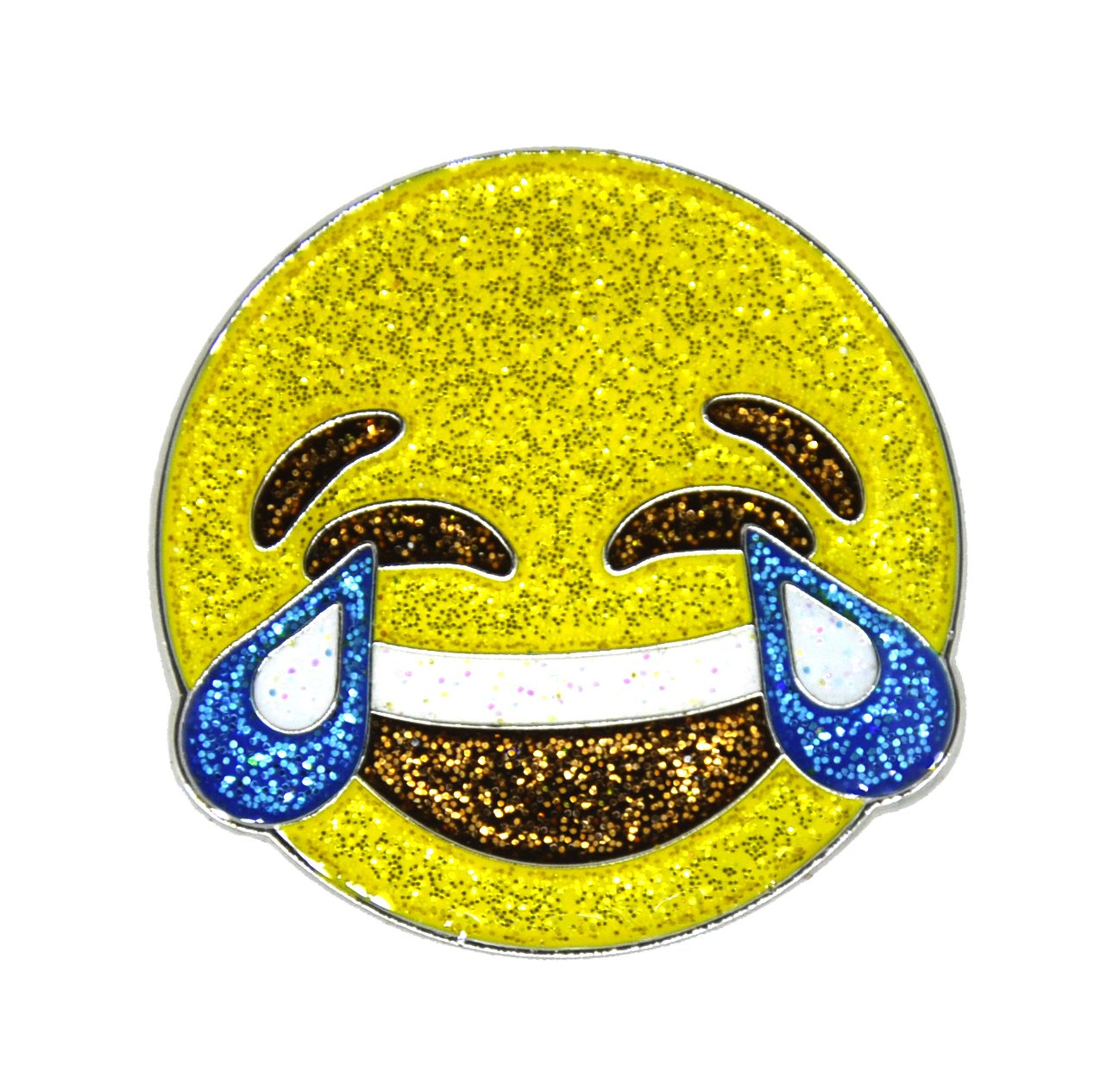Navika Emoji Oh $h!T (Poop) and Emoji LMAO Glitzy Ball Marker Combo with ONE Magnetic Hat Clip