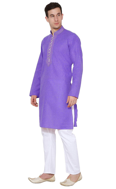 5e47e98875 Indian Kurta Pajama Handmade Traditional Long Sleeve Cotton Shirt Pyjama  Dress Bollywood Clothing Black  Amazon.co.uk  Clothing