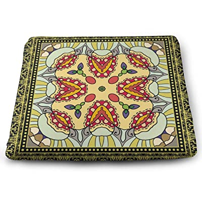Sanghing Customized Decorative Colorful Geometric Floral Doodle Tribal Ethnic Ornament 1.18 X 15 X 13.7 in Cushion, Suitable for Home Office Dining Chair Cushion, Indoor and Outdoor Cushion.: Home & Kitchen