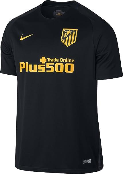 NIKE 808304-011 Camiseta Atlético de Madrid, Hombre, Negro/Amarillo, XL: Amazon.es: Ropa y accesorios