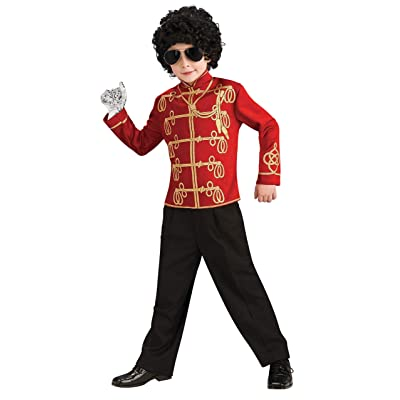 Michael Jackson Child's Value Military Jacket Costume Accessory, Medium, Red: Toys & Games