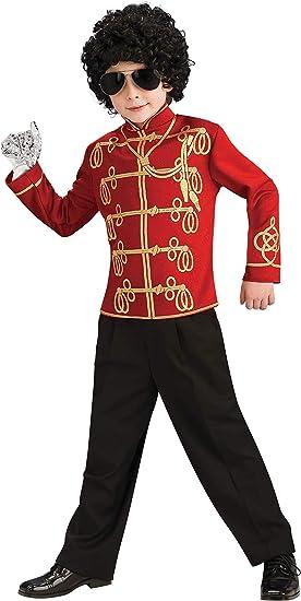 Desconocido Camiseta militar roja de Michael Jackson&trade: Amazon ...