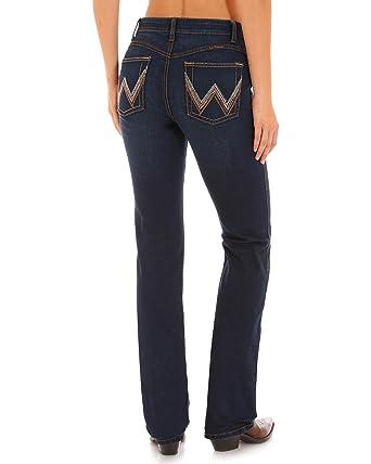 f6f68d6703f Wrangler Women s Ultimate Riding Indigo Q- Jeans Boot Cut Indigo 1W x 32L
