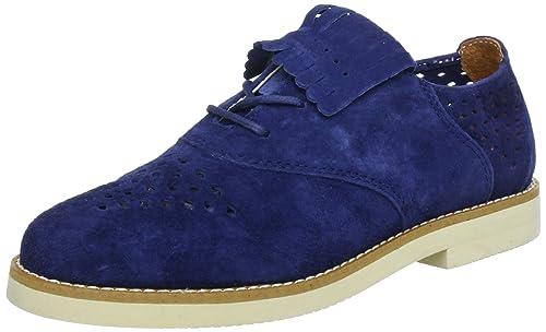 Pointer Tibbals I014734 - Zapatos de cordones de cuero para mujer, color azul, talla 37