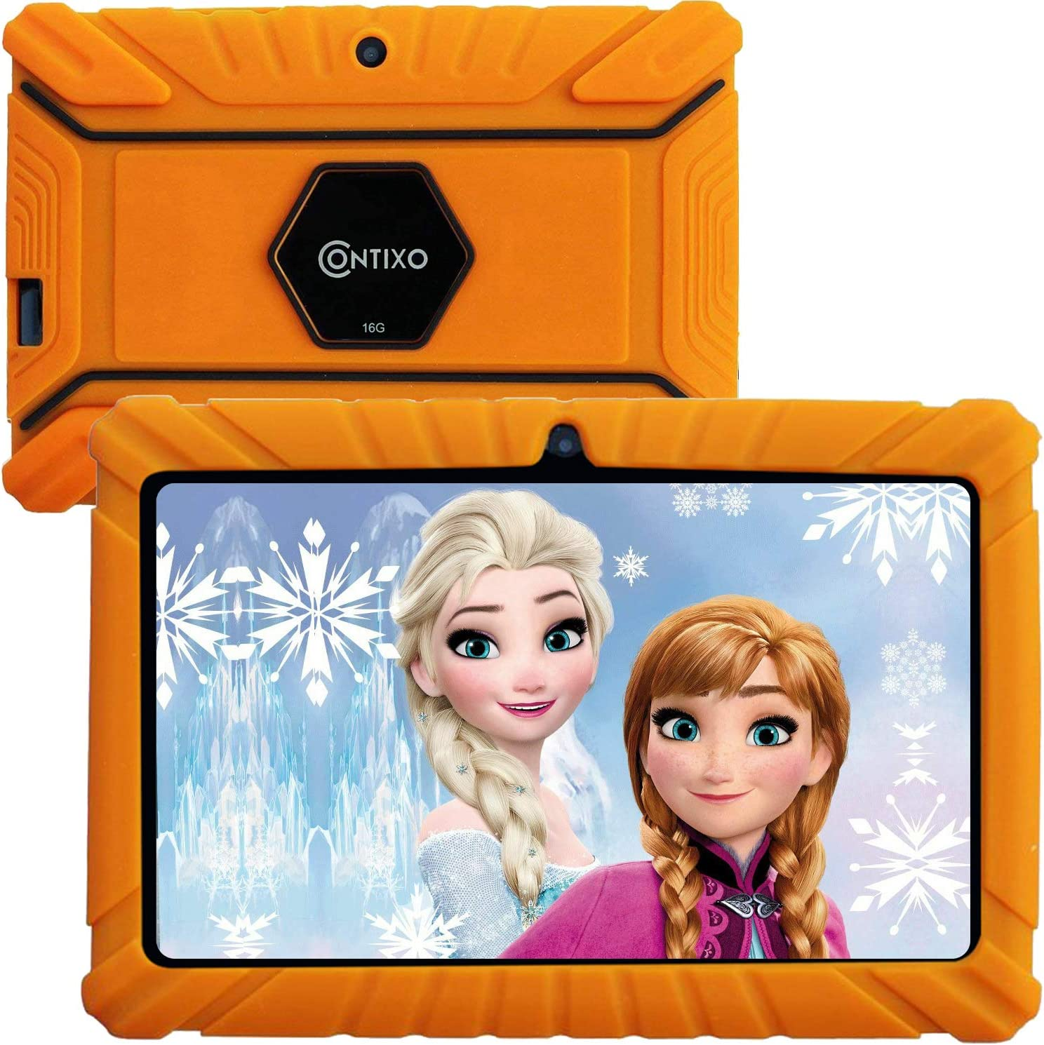 """Contixo V8-2 Kids Tablet - 16 GB ROM - 7"""" Display Learning Education Apps Pre-Installed - HD Display with WiFi Camera - Kids Games Ages 3 and up on Certified Google Play Store (Orange)"""