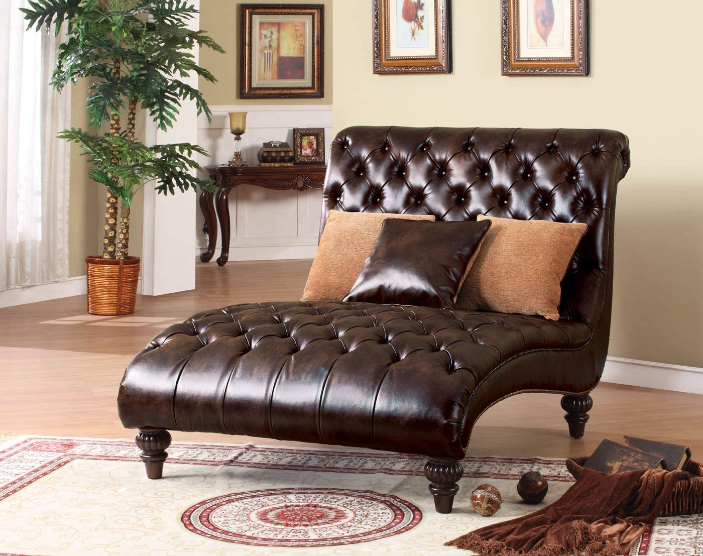 Acme Anondale Two-Tone Polyurethane Chaise Lounger