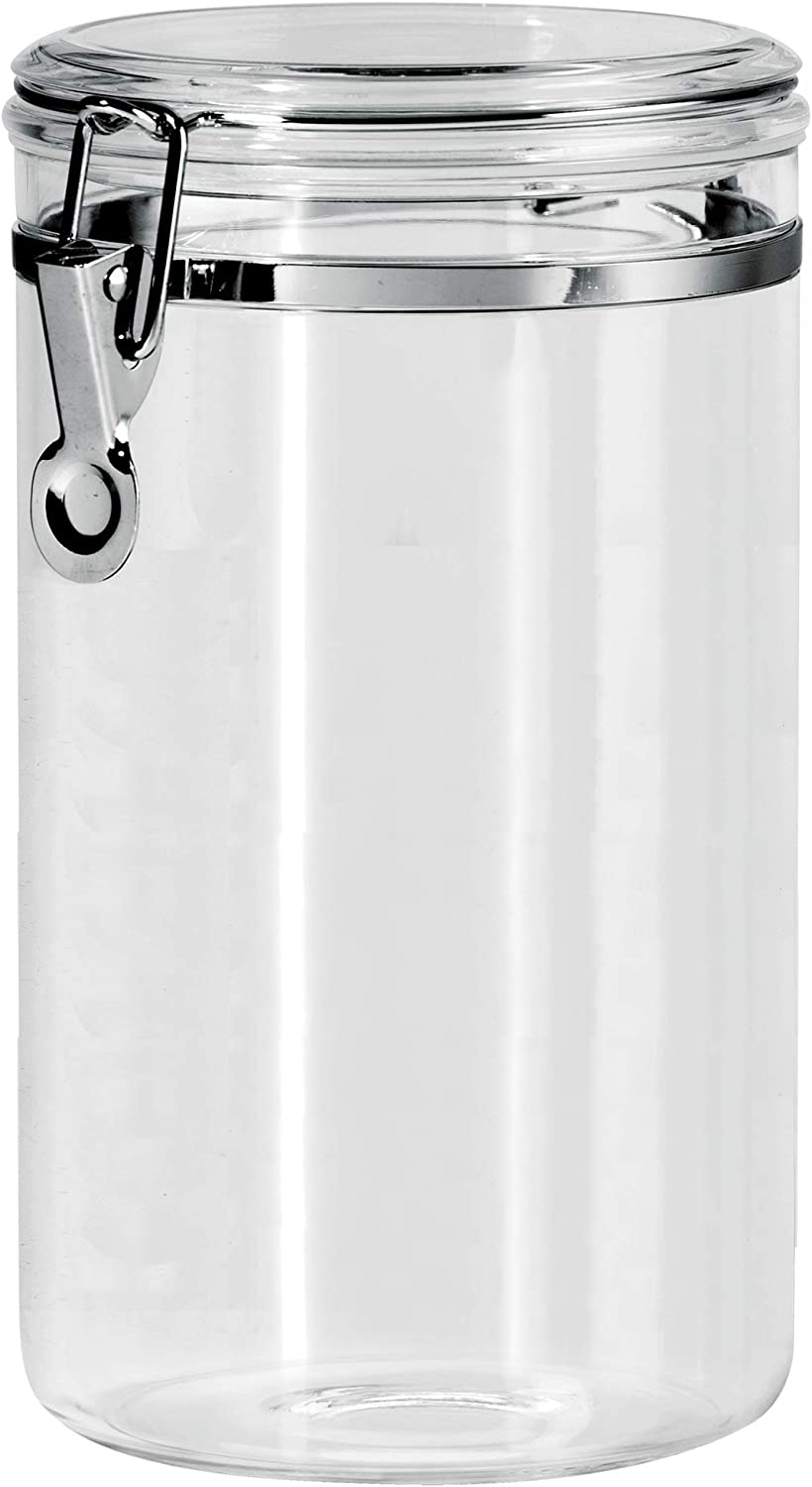 Oggi 72-Ounce Clear Acrylic Canister with Locking Clamp