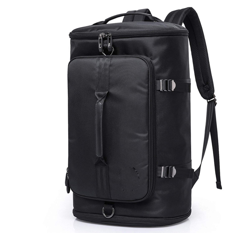 ノートパソコンのバックパック アウトドア 大容量 オックスフォード布 旅行用バックパック コンピュータのバックパック 男性の旅行 登山バックパック  Black B07H2WQX9S