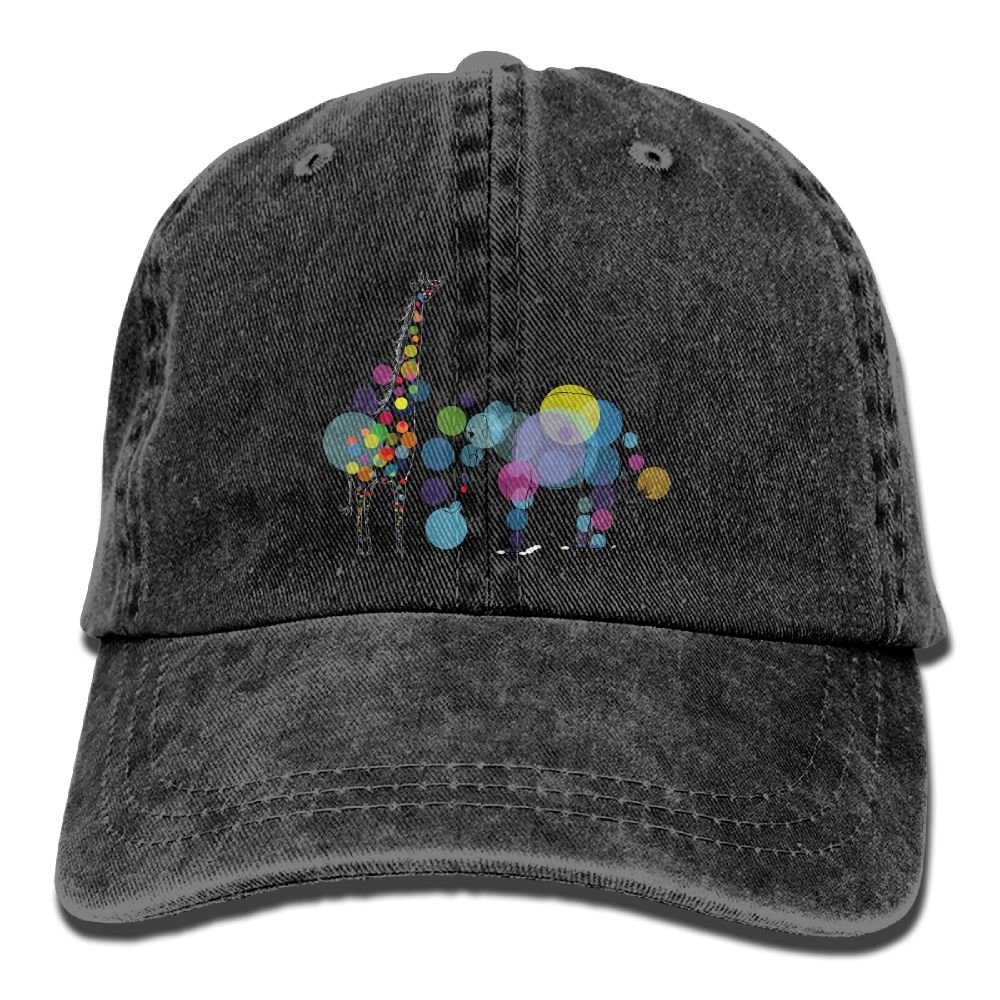 fabb58c45b3 Arsmt Funny Giraffe and Elephant Denim Hat Adjustable Mens Tactical Baseball  Cap at Amazon Men s Clothing store