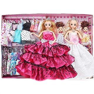 Moda fatta a mano Vestito da partito Vestito da ragazza Vestiti da bambola Regalo di Natale Moda Mini Abiti da festa corti Vestiti da bambola Abiti da festa fatti a mano Accessori Per bambola Regalo d