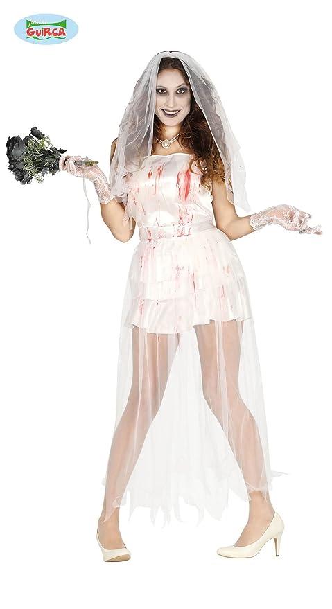5042b737627b Guirca Costume Sposa Cadavere Donna Taglia M