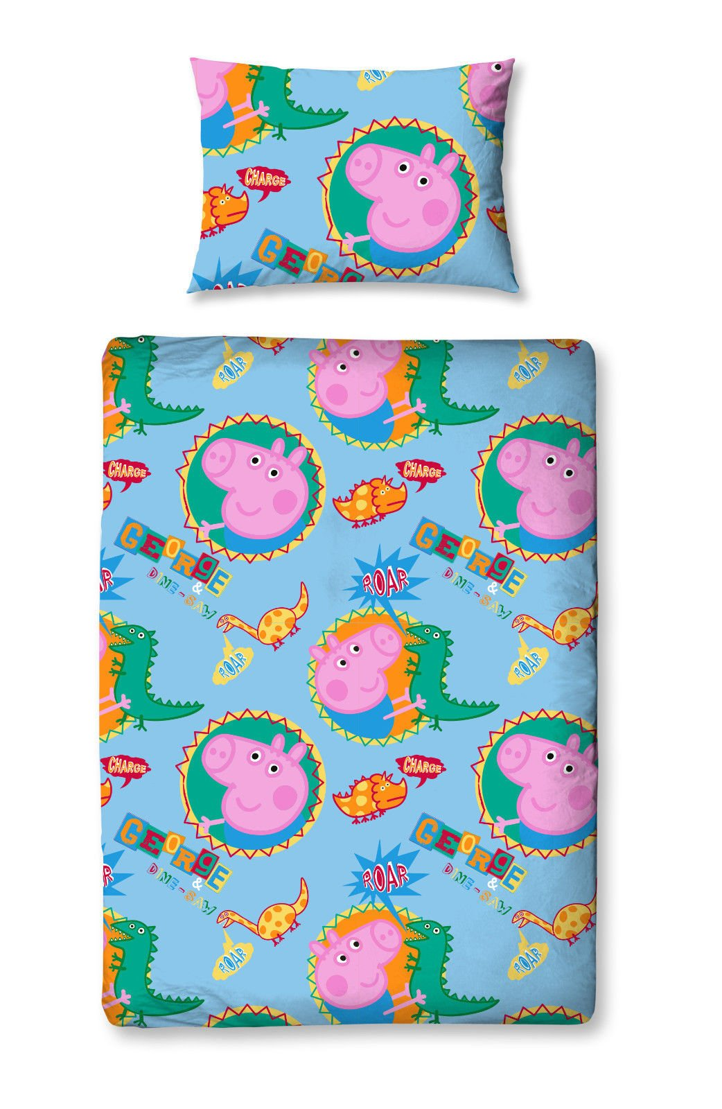 Peppa Pig George Pig Roar Bed in a Bag Set - Toddler by Character World