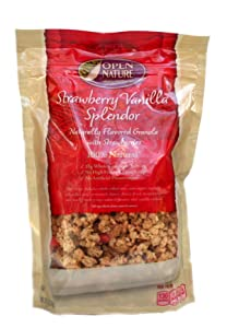Open Nature 100% Natural, Strawberry Vanilla Splendor Granola Cereal, 12 Ounce Bags, (Pack of 2)