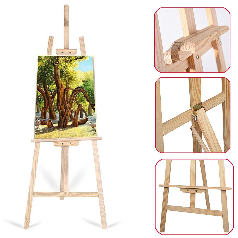 Zange Chevalet de Studio 1.50/m Pliable en Bois Peinture Dessin Support Art Chevalet
