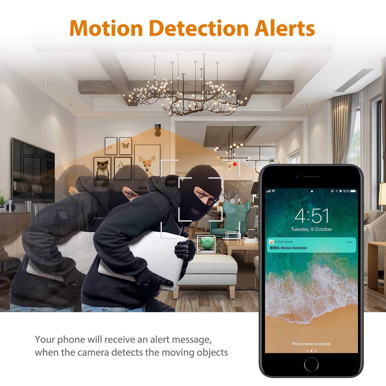 2a553534d891 Spy Hidden Camera Jayol 1080P HD Mini WiFi Nanny Camera  Amazon.co.uk   Camera   Photo