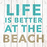 Paperproducts Design 1251995 Beverage/Cocktail Life is Better at the Beach Paper Napkins (20 Pack), Multicolor