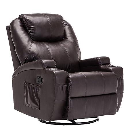 Cool Amazon Com Frivity Recliner Chair Massage Swivel Bonded Creativecarmelina Interior Chair Design Creativecarmelinacom