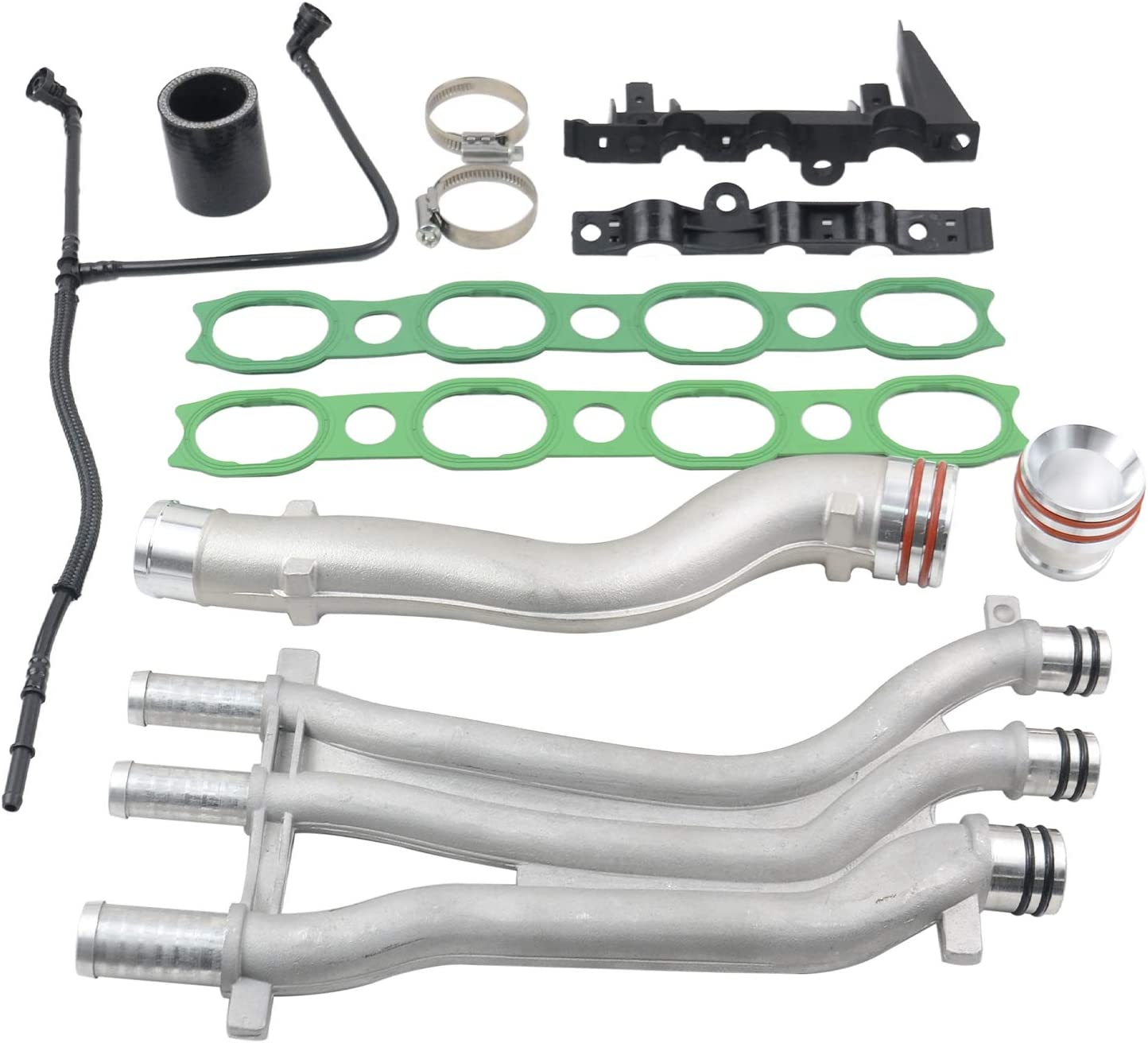 Part# 94810605906 SCSN 10PCS Coolant Pipe Upgrade Repair Kit for 03-06 Cayenne 4.5L V8