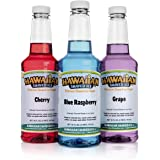 Hawaiian Shaved Ice Snow Cone Syrups, 3 Count