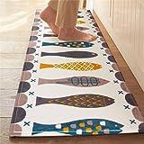 Homcomoda Tappeti Cucina Lavabile Antiscivolo Pesce Design Tappeto da Cucina 45x120cm