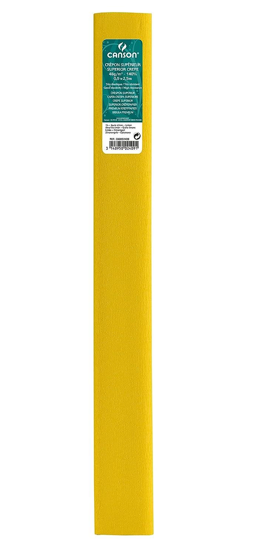 Canson–Set di 10rotoli carta crespa superiore 48g/m² 0, 5x 2, 5m 0, 5 x 2, 5 m Verde primavera 200002414