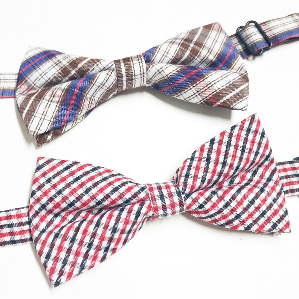PET SHOW Plaid Dog Bow Ties Adjustable Collar Bowties for Small Dogs Puppy Cats Party Pet Collar Neckties Grooming Accessories Pack of 8 by PET SHOW (Image #6)