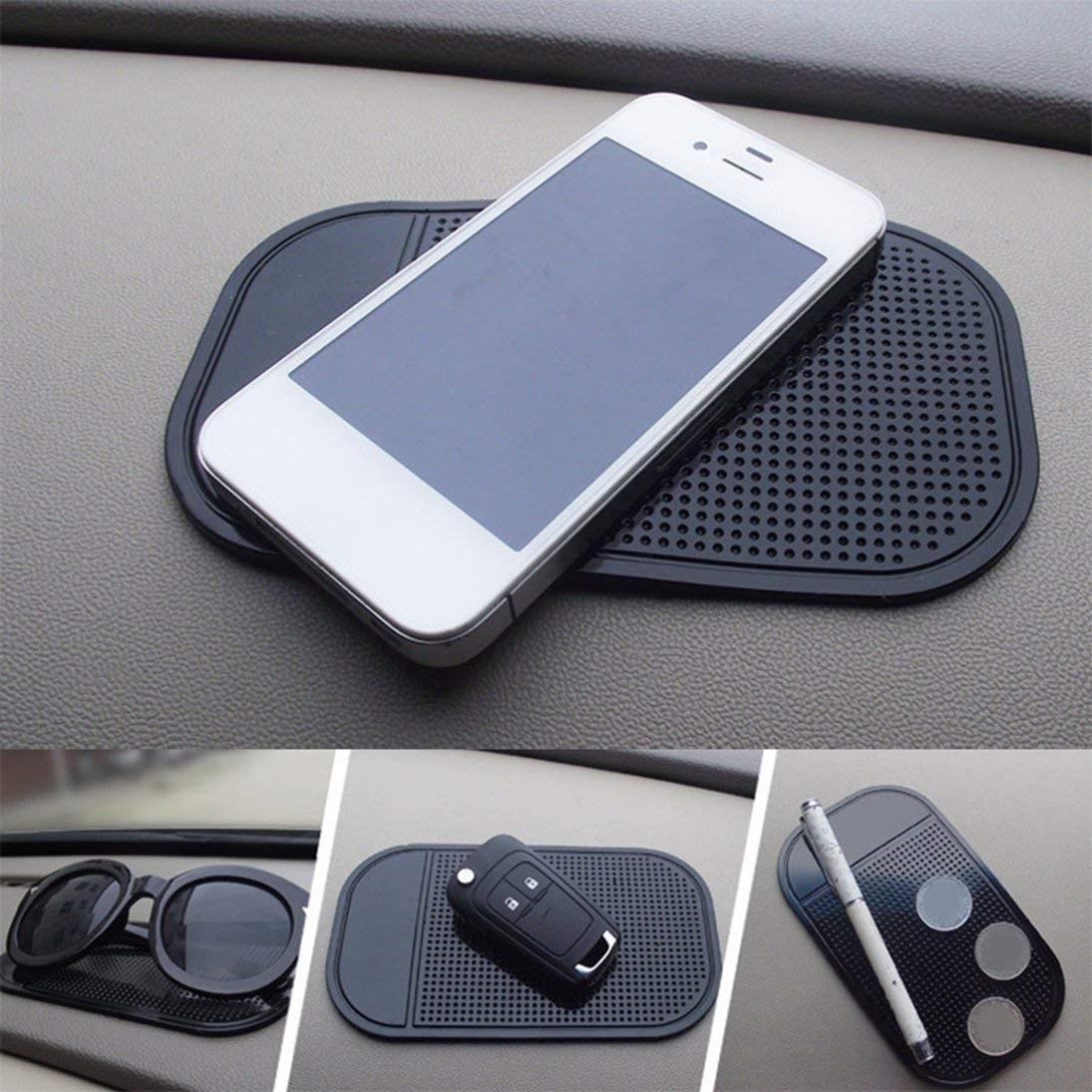 ToGames Silicone Anti-d/érapant Tapis de Voiture Tapis de Tableau de Bord Collant Support de Montage pour t/él/éphone cellulaire v/éhicule GPS Titulaire Accessoires int/érieurs