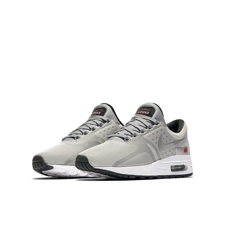 Nike Boys Air Max Zero Quick Strike (GS) Metallic Silver/University Red/Black/Metallic Silver 921074-001 (5Y)