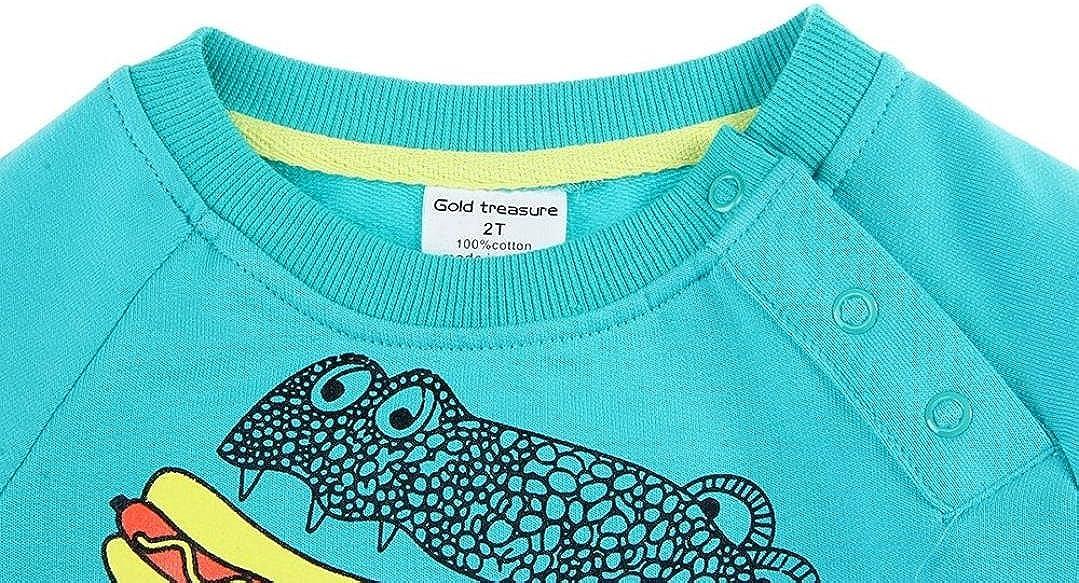 Baby Girls Boys Long Sleeve Cartoon Dinosaur Printed Cute Blouse T-Shirt. Veepola Kids Tops