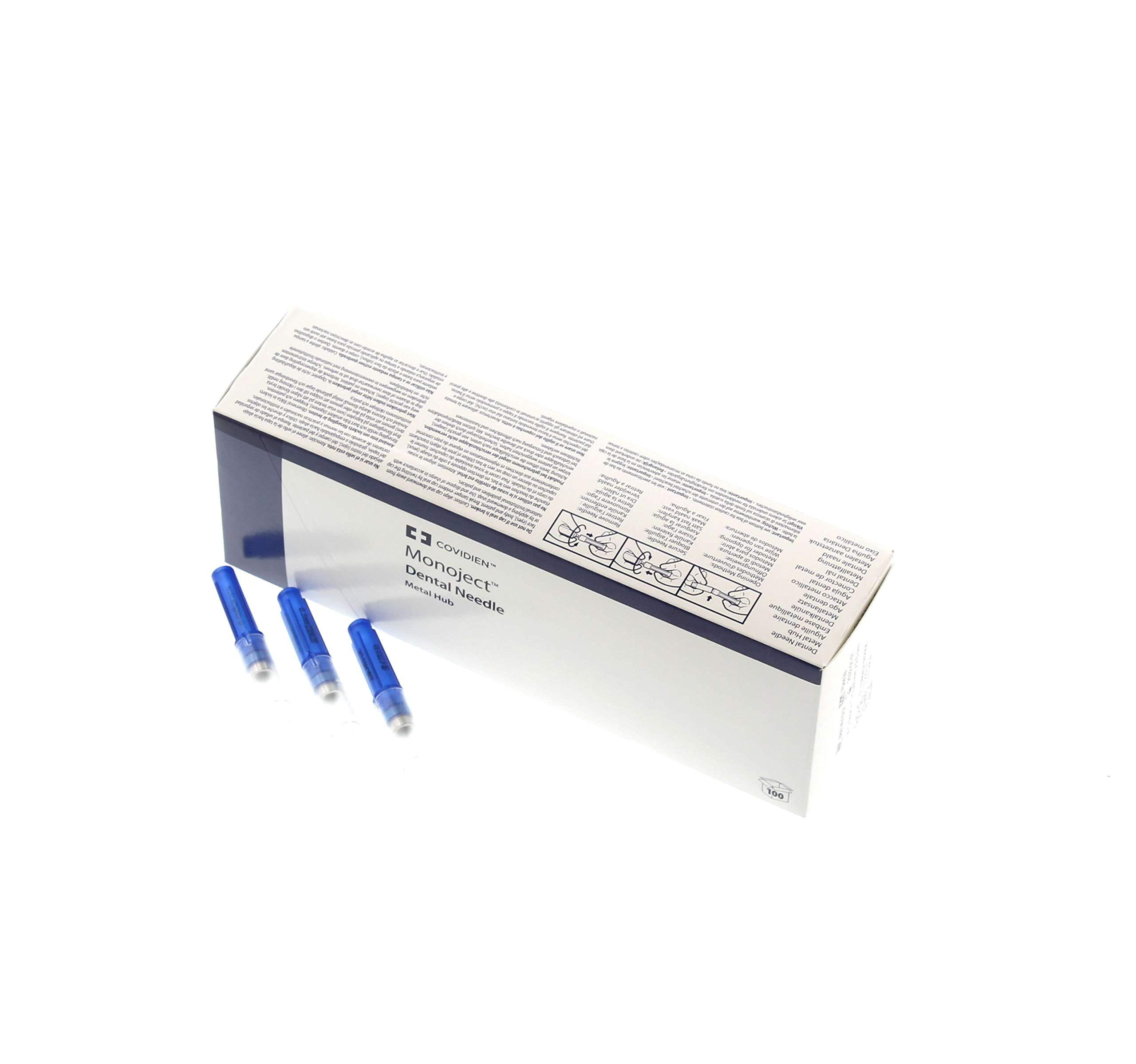 Monoject 401 Metal Hub Disposable, Color-Coded Needles, 100/Box