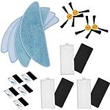 TeKeHom 2 Pares de cepillos Laterales + 3 filtros HEPA® + 3 esponjas + 4 Paños + 10 Pasta Mágica para aspiradora CecotecConga Excellence 990