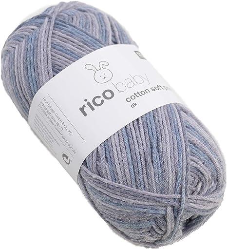 Rico Baby cotton soft print - Ovillo de Lana para bebé (Mezcla de algodón, para Punto y Ganchillo): Amazon.es: Hogar