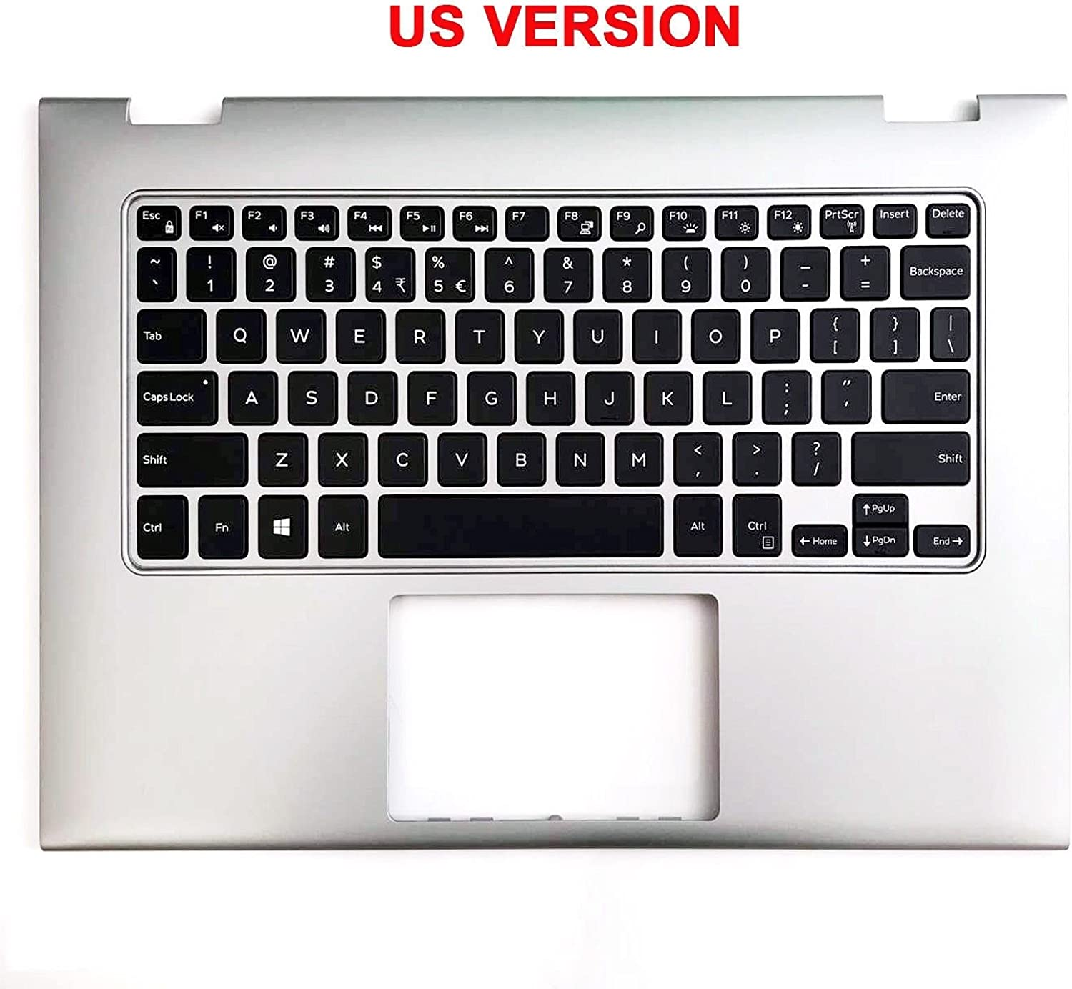 for Dell INSPIRON 13-7000 7347 7348 7352 Laptop US Keyboard Palmrest Case Clear Protector Cover