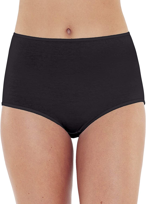 Just Essentials - Pack de 4 bragas de algodón para mujer, color blanco y negro Negro Negro (50: Amazon.es: Ropa y accesorios